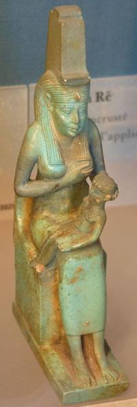 Isis nurses the infant Horus