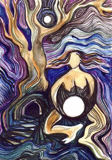The Moon is in my Belly, by Jocelyn Chaplin
