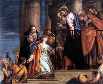 Christ and the Woman with the Issue of Blood, by Paolo Veronese