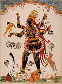The Goddess Kali, 1770, by Richard B. Godfrey (image believed to be out of copyright)