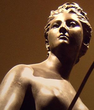 Diana, bronze, Jean-Antoine Houdon (1741-1828)
