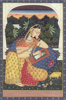 The Goddess Srimati Radha Rani (public domain)