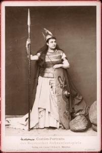 """Amalie Materna as Brunnhilde in Wagner's """"Ring"""" - 1876 - Copyright Expired"""