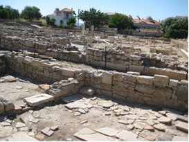 Archaeological site next to the museum