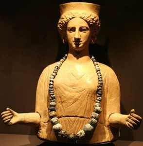 Adorned Statue of the Goddess Tanit, 5-3rd century BCE from the Necropolis of Puig de Molins, Ibiza