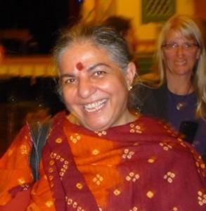 Vandana Shiva - photo by author