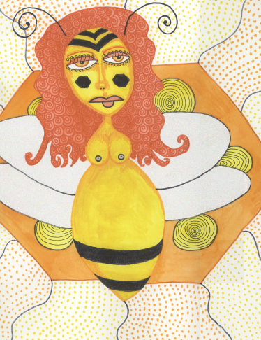 "Goddess Pages - Issue 4 ""Queen Bee"", by Angie Bowen"
