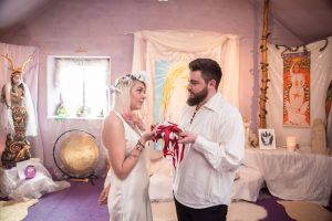 A temple wedding