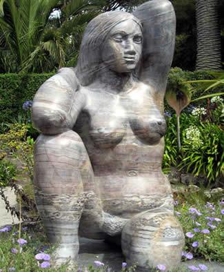 Gaia sculpture, Abbey Gardens, Tresco, Isles of Scilly