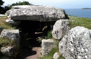 Bants Carn entrance grave on St Mary's