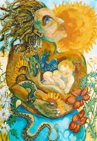 """Tailtu"", by Geraldine McCarthy, inspired by a painting by Joyce Radtke"""