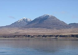 The breast-shaped Paps of Jura