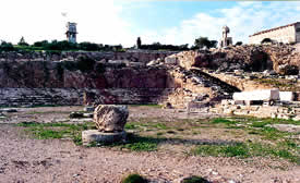 Eleusis: The remains of the Telesterion today