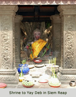 Shrine to Yay Deb in Siem Reap