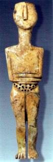 Cycladic-style Goddess found at Phourni on Crete