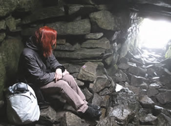 Jill inside the Cailleach Birra's House