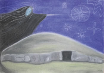 """""""The Cailleach ' Cairn T, Loughcrew"""", by Jill Smith"""