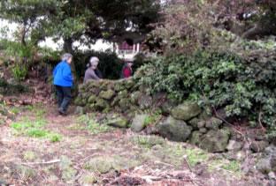 Entering a shrine on Jeju Island