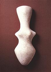 Find of a marble Goddess figurine from Makriyalos Macedonian Greece