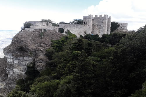 The Temple behind the fortified walls