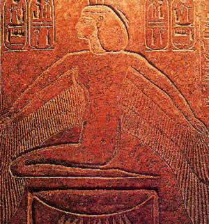 The Goddess Isis on the sarcophagus of Rameses III (c1194-1163 BCE)