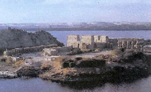 Temple of Isis on the Isle of Philae