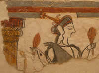 The Mycenaean Earth Goddess holding ears of wheat (photo by the author)