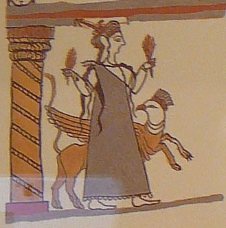 Reconstructed image of Earth Goddess (photo by the author)