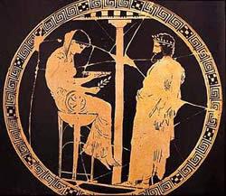 Aegeus consults the Pythia - open source image, Wikipedia