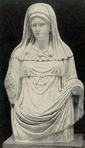 Costume of Chief Vestal Virgin