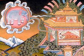 The immaculate conception of Buddha
