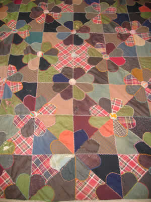Quilt made by Jennie Jarvis in the early 20th Century