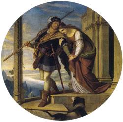 Siegfried's (Sigurd's) Departure from Kriemhild (Gudrun), by Julius Schnorr von Carolsfeld