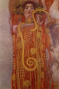"Hygeia, from ""Medicine"" - Gustav Klimt"