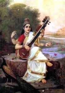 Sarasvati - Raja Ravi Varma