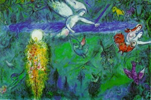 """""""Song of Songs III"""" - Marc Chagall, 1960 - used with kind permission of www.marcchagallart.net"""