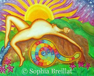 """Goddess Pages - Issue 23 """"The Birth of Earth"""", by Sophia Breillat"""