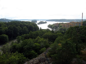 Lake Mälaren seen from my sister's balcony in Stockholm