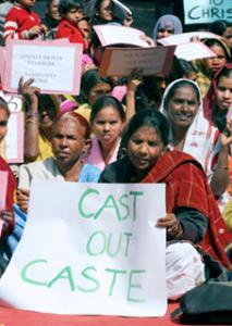 """Protest by """"Untouchable"""" (Dalit) Women"""