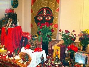 Puja Altar - photo by Crystal Dawn Walker