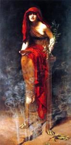 Priestess of Delphi (1891) artist: John Collier