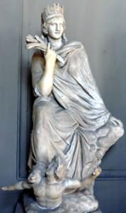 The Tyche (Fortune) of Antioch – Roman copy of Greek bronze original, public domain image