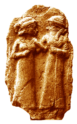 Sumerian Relief, thought to show the marriage of Inanna and Dumuzi