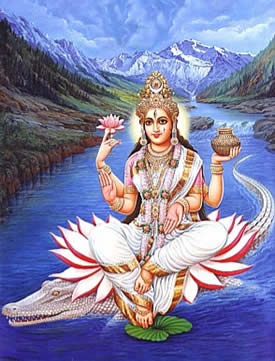 Goddess Ganja from the River Ganges - see www.festivalsofindia.in