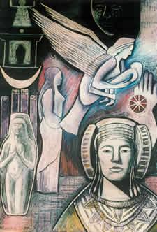 Tanit - Phoenician Goddess - Monica Sjöö