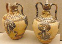 vase shield motif